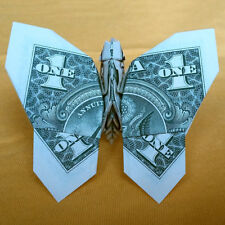 1 Origami Dollar Bill BUTTERFLY Money Handcrafted Gift Wedding Home Decor Figure