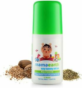 Mamaearth Easy Tummy Roll On for Indigestion and Colic Relief, 40ml (Pack of 1)