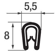 Ks0-1s Kantenschutzprofil schwarz KB 0 5-1mm Kantenschutz Keder Dichtungsprofil
