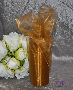 """6"""" x 25 YARDS SHEER ORGANZA ROLL SPOOL WEDDING BOW SASH CRAFT DECORATION"""