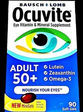 Bausch+Lomb  OCUVITE Adult 50+ Eye Vitamin & Mineral supplement (90) soft gels