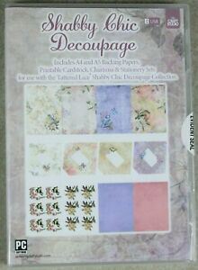 My Craft Studio Tattered Lace Shabby Chic Decoupage Collection USB