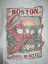 Vintage LOBSTER With a Smile - MASSACHUSETTS (XL) T-Shirt