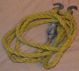 """14' Polypropylene Rope 3/4"""" Thickness Tie Down Straps Nylon Tow Climbing W/Hooks"""