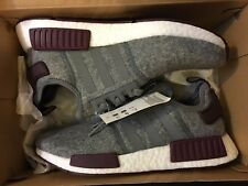 NEW ADIDAS NMD R1 WOOL CHAMPS EXCLUSIVE GREY RUNNING SHOE CQ0961 SIZE MEN 8.5