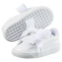 PUMA Pre-School Girl's Basket Heart Patent Little Shoes