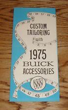 Original 1975 Buick Accessories Sales Brochure 75 Riveria Electra Regal