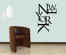 Wall Decal Vinyl Sticker Words Letters New York NY City Town Capital r209