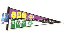 LA Lakers Boston Celtics NBA Finals Champ Rivalries Renew Rare Pennant Flag LK10