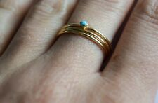 Gold filled stacking rings, turquoise ring, 14k gold ring, turquoise jewellery