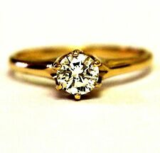 GIA 14k yellow gold .54ct VS1 O-P diamond engagement ring 2.5g estate vintage