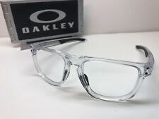 Oakley Holbrook R 9377-0455 Polished Clear Sunglasses Frames W/Blue Icons 55/17