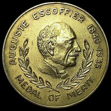 AUGUSTE ESCOFFIER BRONZE MEDAL OF MERIT- 50 YEARS OLD - HARD TO FIND-VERY RARE