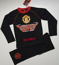 Personalised Manchester United cotton pyjamas age 7-12 years with name