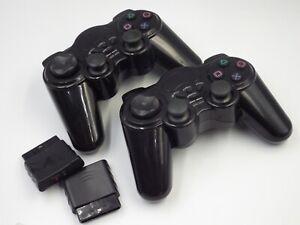Lot de 2 Manettes sans fil pour Playstation 2, PS2 fonctionne à pile.