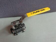 "New Flow-Tek 1/2"" - 8003 Locking Ball Valve 1000WOG A216-WCB (Bin Loc 9C1)"