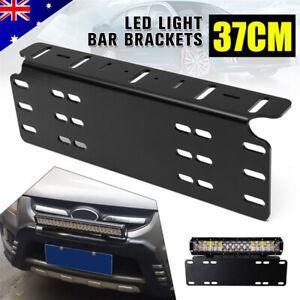 Number Plate Bracket Car LED Driving Light Bar Spot Licence Free Mount Holder OZ