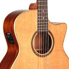 Teton STA105CENT Auditorium Acoustic-Electric Guitar ONLY, Cedar/Mahogany Satin