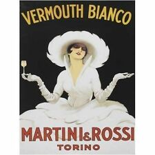 Martini Rossi Drink Girl Classic Cocktail Bar Advertising Large Metal/Tin Sign