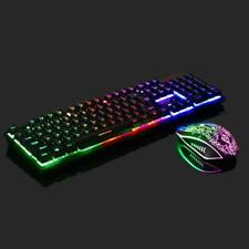 New listing Rainbow Gaming Keyboard and Mouse Set For Ps4/Ps3/Xbox One Led Multi-Colored Cha