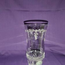 SET 4 HOME INTERIOR VOTIVES ETCHED FLORAL GARLAND CANDLE HOLDER Sconce Cup Clear