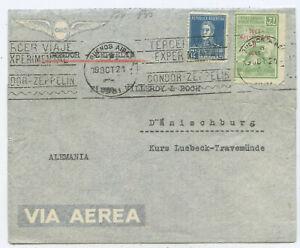 Argentinien Condor Zeppelin Brief Buenos Aires Dänischburg 1931
