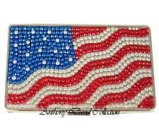 Anthony David USA Flag Crystal Cigarette Case with Swarovski Crystals