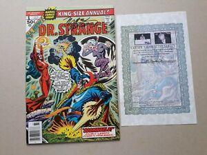 SIGNED STAN LEE MARV WOLFMAN Dr Strange King-Size Annual #1 1976