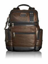 Alpha Bravo Knox Leather Backpack - Dark Brown