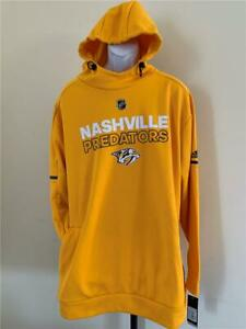 New Nashville Predators Mens Size 3XL Yellow Adidas Player Hoodie MSRP $110