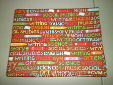 1-School Subjects and Crayons Standard Size Cotton Pillowcase   New & Handmade!