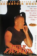 RARE PULP FICTION BRUCE WILLIS 1994 VINTAGE ORIGINAL MOVIE PROMO POSTER