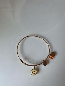 Alex and ani gold letter C bracelet