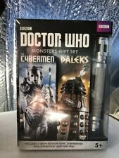 Doctor Who Monsters Gift Set Cyberman/ Daleks DVD SET w/Sonic Screwdriver SEALED