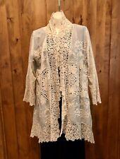 Johnny Was Edwardian/Victorian Style Boho Hippie Chic Embroidered Kimono S