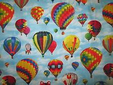 HOT AIR BALLOON SKY BALLOONS COTTON FABRIC BTHY