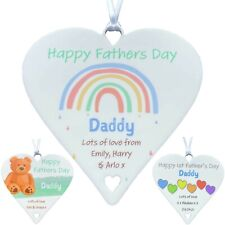 Personalised Father's Day Gifts Daddy from Son Daughter 1st as Dad Cute Heart