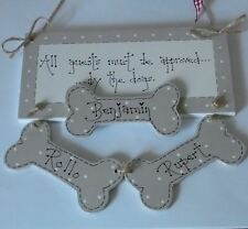 shabby chic personalised pet dog keepsake plaque sign gift  Laura Ashley Mink