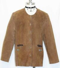 "BROWN LEATHER Western Hunting JACKET Sport Over Coat Women German Eu46 B44"" 14 L"