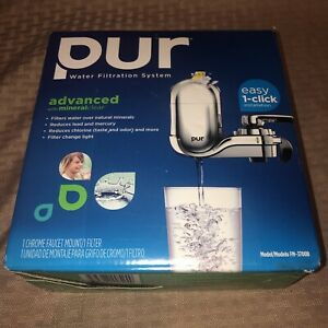 PUR Advanced Faucet Water Filter Chrome FM-3700B & 1 Filter Mineral Clear New!!!