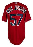 Shane Bieber Signed Cleveland Indians Not Justin Majestic Baseball Jersey JSA
