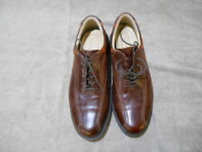 ECCO Golf Shoes Brown Leather Bicycle Toe Textured Hydromax 44 US 10 10.5