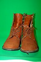 Ariat Womens Western Ankle Boots Rough Out Leather Brown Lace Up Size 7.5D