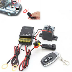 12V Universal Battery Isolator Kill Switch Cut Off &Remote Control For Car Truck