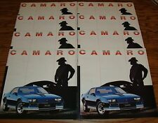 Original 1982 Chevrolet Camaro Sales Brochure Lot of 8 82 Chevy