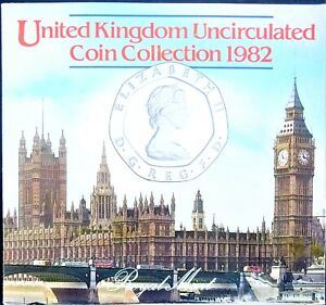 UK Elizabeth II Royal Mint 1982 Uncirculated Coin Set. Ideal Year of Birth Gift