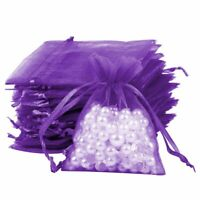 25-100Pcs Organza Candy Bags Wedding Party Favor Gift Jewelry Pouch Sheer Decor