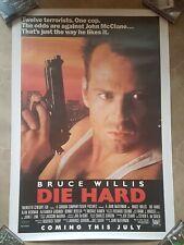 Die Hard commercial poster Bruce Willis