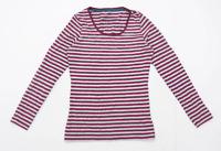 TU Womens Size 12 Striped Cotton Blend Multi-Coloured Long Sleeve T-Shirt (Regul