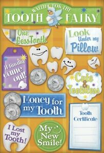 Scrapbooking Crafts KF Stickers Watch Tooth Fairy Cute Toothless Pillow Money